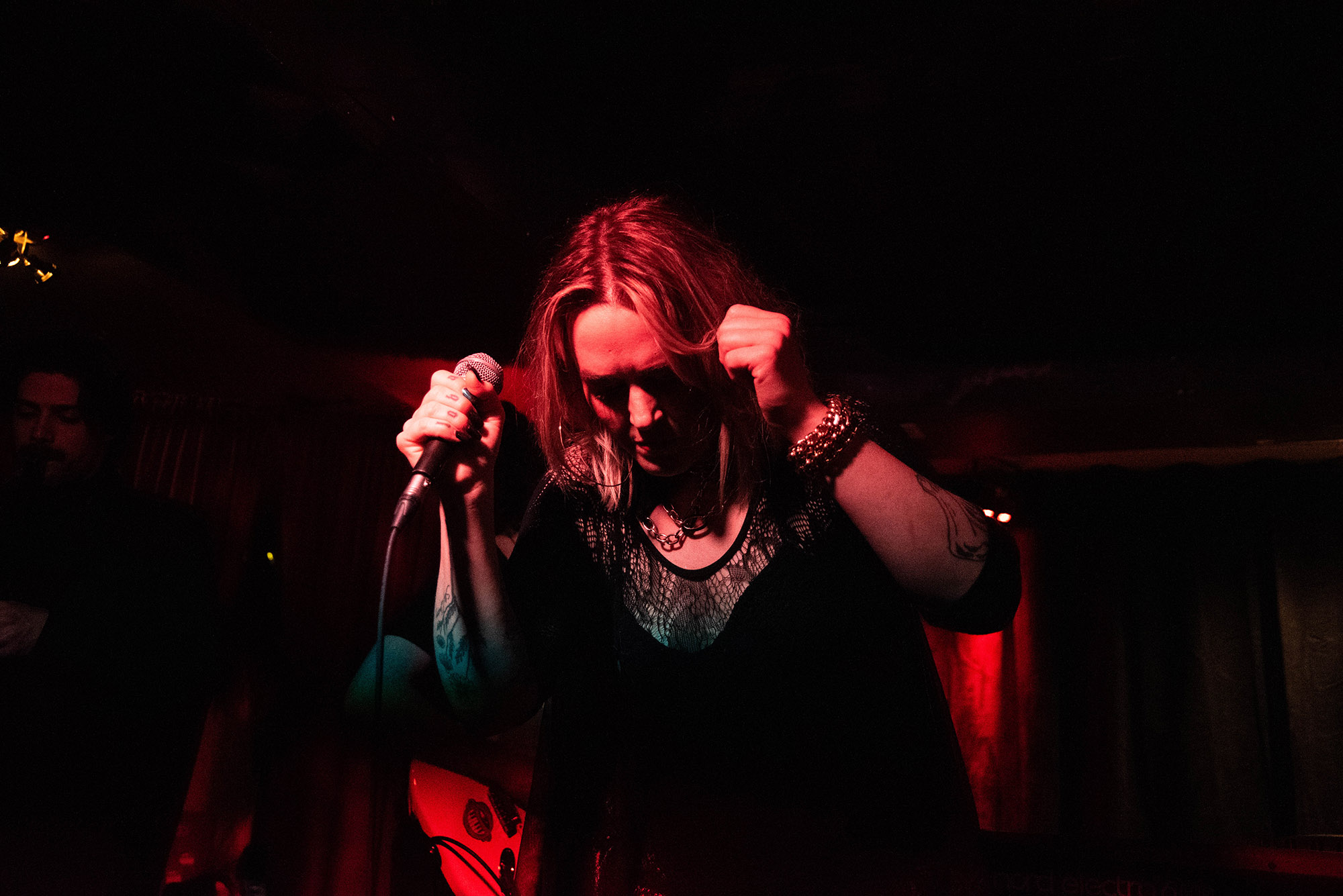 Cat and The Queen at Monarch Tavern, April 2019 - Cat performing